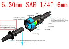 "6.30mm SAE 1/4"" 6mm Nylon Fuel Line Quick Connect Release Hose Disconnect Hose"