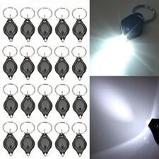 20pcs LED Mini Micro Keychain Key Ring Flash Bright Flashlight Torch White Light