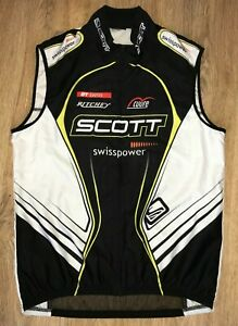 Scott Swisspower Cuore cycling windbreaker vest sleeveless jersey size XL