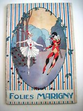 """Art Deco Vintage French Theatre Program Titled """"Folies Marigny"""" Lovely Cover *"""