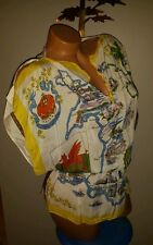 VINTAGE SILK BANDANA SHIRT HIPPIE ANTHROPOLOGIE WALES TUNIC FESTIVAL TOP S M