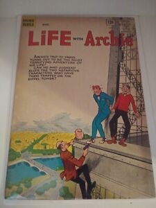 Life With Archie #22 - 1963 Archie Comics Eiffel Tower Cover France VG