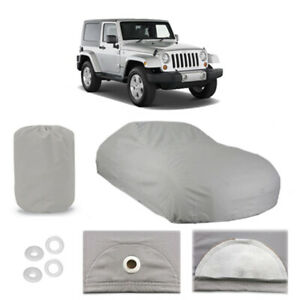 Jeep Wrangler 6 Layer Car Cover Fitted Water Proof Outdoor Rain Snow Sun Dust