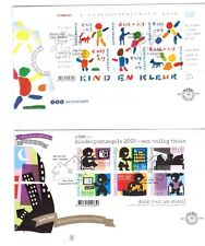 NETHERLANDS 2002 & 2007 Childrens set FDC used