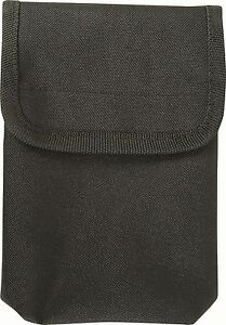 Black Security Webbing Waist Belt mounted Notebook Pouch or Note Book Holder
