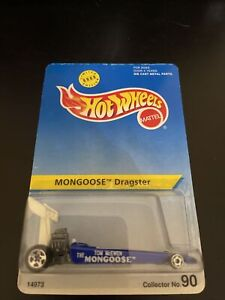 Hot Wheels #90 Blue Mongoose Dragster w/5 Spoke Wheels Limited Edition 8000 H589