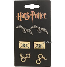 Harry Potter Hedwig Owl Letter Glasses Icons 3 Pair Post Insertion Earrings Set
