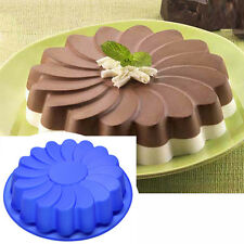 Silicone Large Flower Cake Mould Chocolate Soap Candy Jelly Mold Baking Pan New