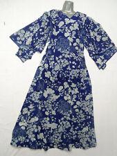 VINTAGE BLUE FLORAL FLOATY MAXI DRESS -  BOHO