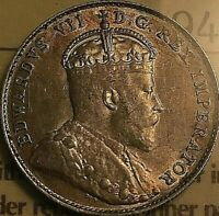 1903H CANADA SILVER 10 CENTS COIN - ICCS AU-50