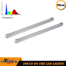 "2xFull Spectrum 36"" LED Grow Light T8 strip Lamp For Hydroponic Greenhouse Plant"
