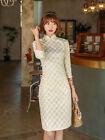 Chinese Summer Mini Cheongsam Women Lace Dress Ball Qipao Size M to 3XL