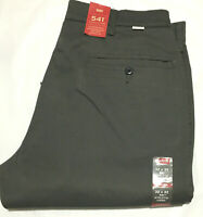 NWT MEN'S LEVI'S 541 - 0005 ATHLETIC FIT CHINO 279510003 STRETCH PANT D. GREY