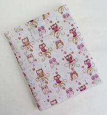 Handmade iPad case/cover/pouch. Fits all generations. Owl Print fabric.