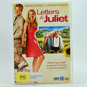 Letters To Juliet Amanda Seyfried DVD Good Condition Free Tracked Post