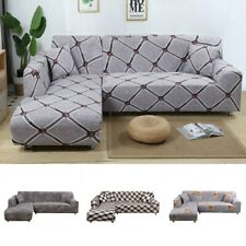 L Shape Sofa Couch Cover Stretchable Slipcover Home Throw Pet Protector Solid