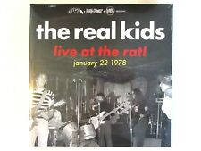 THE REAL KIDS LIVE AT THE RAT 1978 LP SEALED 2018 CRYPT LABEL GATE FOLD