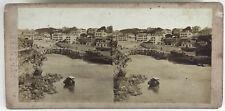 Port Vieux Biarritz Photo Stereo Vintage Albumine c1860