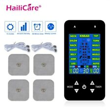 New Ems Tens Acupuncture Body Massager Digital Therapy Machine With 4 Electrode