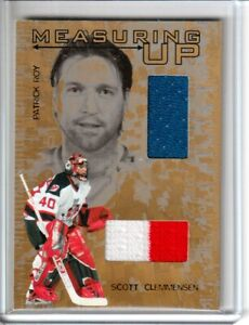 2005-06 Heroes and Prospects Measuring Up Gold #MU6 Scott Clemmensen/Patrick Roy