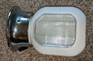 Vintage (?) Chrome Color Porch Kitchen Light Fixture UNDERWRITERS LABORATORIES