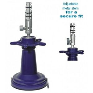 Deluxe Metal Suction Manikin Holder with Stem