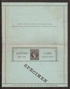 Ceylon, H&G A2, 1893 5c Queen Victoria Letter Card with SPECIMEN  ovpt