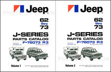 1962-1973 Jeep Gladiator Truck and Wagoneer Parts Book J100-J300 J2000-J4000