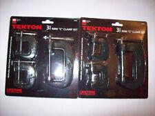 6pc TEKTON C CLAMP MINI VISE SET WITH SWIVEL PADS
