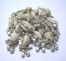 LOT 50 PCS.DECORATED COWRIES ALLOY DANGLES BELLY DANCE