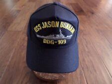 USS JASON DUNHAM DDG-109 NAVY SHIP HAT U.S MILITARY OFFICIAL BALL CAP U.S.A MADE