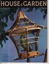 1936 House & Garden August - Parrot; Building in Bermuda; Concord NH; Monterey