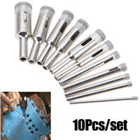 10Pcs Diamond Hole Saw Drill Bit Set Cutting Tool For Tile Marble Glass 3mm-18mm