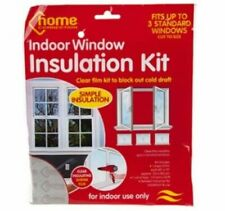 WINDOW INSULATION KIT SHRINK FIT GLAZING FILM DRAUGHT EXCLUDER DOUBLE SIDED TAPE
