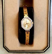 *nEW oLD sTOCK *STUNNING Women CROTON DIAMOND SWISS MOVEMENT Quartz Watch