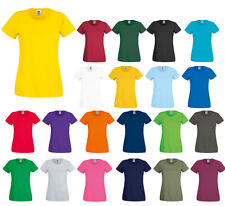 Fruit of the Loom T Lady Fit T-Shirt Damen Shirt Top Rundhals
