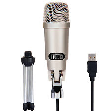 USB Condenser Microphone Recording Studio Mic for PC Mac With Adjustable Stand