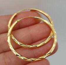 Preciosos Aros Argollas Pendientes Aretes Oro Amarillo Gold Filled.