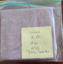 "Fabric - 28ct. Linen 15""x15"" Cross Stitch Fabric Pale Lavender"