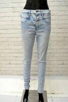 Jeans Donna HOLLISTER Taglia 28 Pantalone Blu Chiaro Pants Woman Slim Fit Skinny