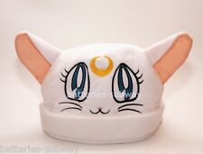 New Sailor Moon White Artemis Cat Adult Soft Plush Warm Hat Cap Beanie Costume