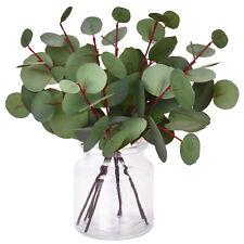 8pcs Artificial Eucalyptus Round Leaf Faux Greenery Wedding Bouquet Party Deco
