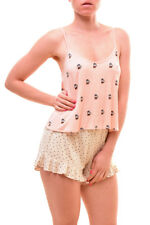 Wildfox Women's Intimates Time For Tea Sleep Top Pink Size XS RRP $50 BCF79