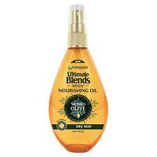 2x Garnier Ultimate Blends Body Nourishing Oil 150ml Mythic Olive