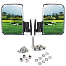 Foldable Side Mirror Golf Cart Universal Mount For Yamaha Club Car Ez-Go