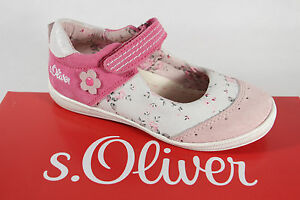S.Oliver Ballerina White/ Rose/ Pink, Leather Insole New