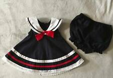 Nautical Sailor navy Dress & Matching bloomers 6-9 Months. Used 4 pageant OOC