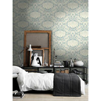 Vintage flower Non-woven wallpaper gray and white Home wall mural large
