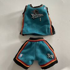 Barbie Doll Ken Sports BasketBall Outfit, Tank And Shirts Detroit Pistons Nba