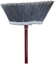 Quickie -Clean Results Poly Fiber Soft Upright Broom Stiff Sweep Indoor Outdoor